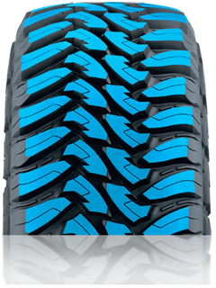 Aggressive, Attack Tread Design with Hook shaped blocks